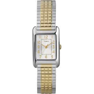 Timex Women's T2P305 Emma Dress Two-tone Stainless Steel Mesh Bracelet Watch|https://ak1.ostkcdn.com/images/products/14593246/P21138488.jpg?impolicy=medium