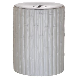 Safavieh Bamboo White Ceramic Decorative Garden Stool