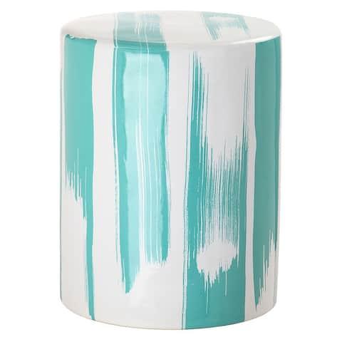 Safavieh Talon Blue-Green Modern Abstract Ceramic Decorative Garden Stool