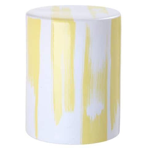 SAFAVIEH Talon Yellow Ceramic Decorative Garden Stool