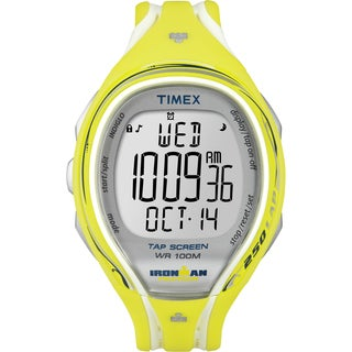 Timex Women's T5K789 Ironman Yellow Resin Strap Sleek 250 TapScreen Watch (Option: Yellow)