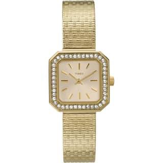 Timex Women's T2P550 Sugar Cube Goldtone Stainless Steel Mesh Bracelet Watch|https://ak1.ostkcdn.com/images/products/14593268/P21138478.jpg?impolicy=medium