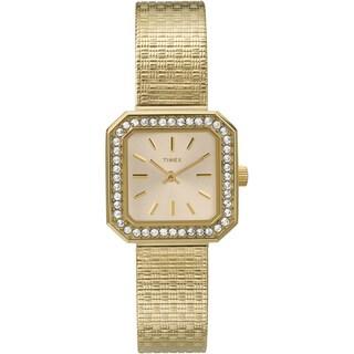 Timex Women's T2P550 Sugar Cube Goldtone Stainless Steel Mesh Bracelet Watch