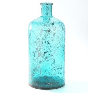 Distressed Glass Bottle Vase