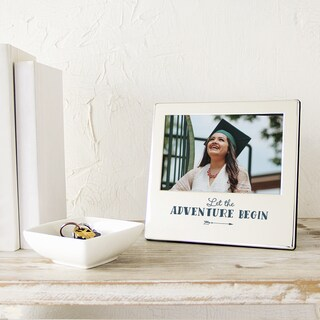 'Let the Adventures Begin' Graduation Silver Picture Frame