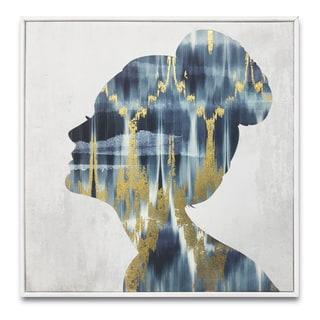 """""""Ikat Luxe Built"""" Gold Foil Embellished Framed Art"""