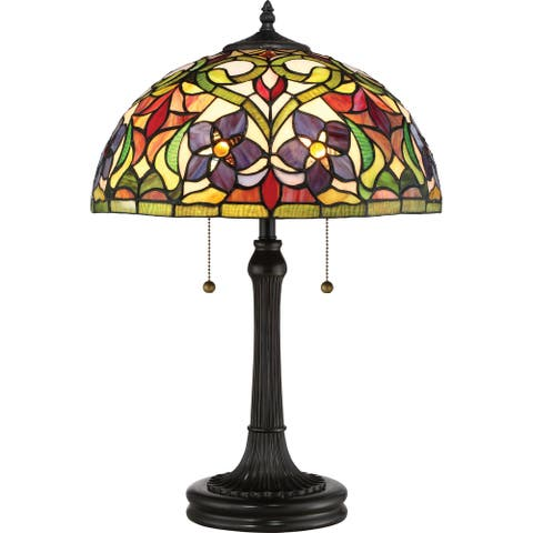 Copper Grove Holopeka 16-inch Tiffany-style Table Lamp