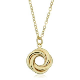 Fremada Italian 10k Yellow Gold Love Knot Necklace (18 inches)