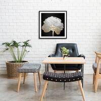 """""""Gold and Light Floral II"""" Gold Foil Framed Art"""