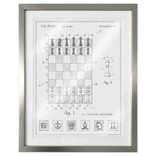 """Chess Game and Method 2000"" Silver Foil Framed Art"