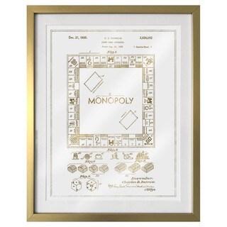 """""""Monopoly 1935"""" Gold Foil Framed Art"""