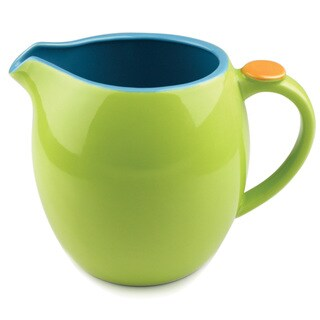 Hemisphere Green and Aqua Stoneware Pitcher