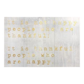 """Happy People Gold"" Gold Foil Art Plaque