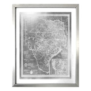 """Texas 1856 Silver"" Silver Foil Framed Art"