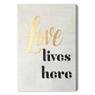 Wynwood Studio 'Love Lives Here' Art Plaque|https://ak1.ostkcdn.com/images/products/14593511/P21138705.jpg?impolicy=medium