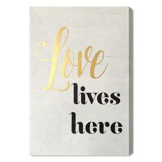 Wynwood Studio 'Love Lives Here' Art Plaque