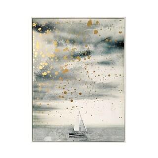 Wynwood Studio 'Golden Sailing' Metallic Framed Art