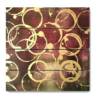 Wynwood Studio 'Wine Gold' Art Plaque
