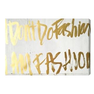 Wynwood Studio 'Golden Fashion Girl' Gold Foil Canvas Art