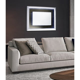 Nova Lighting Silver-tone Rectangular Vanishing Infinity Mirror