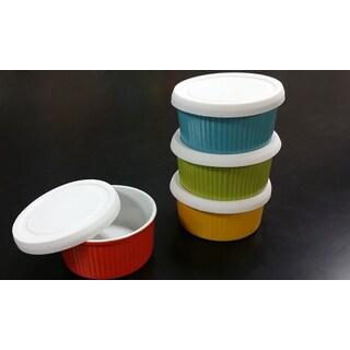 OmniWare Bake & Store 4-piece Silicone-lid Ramekin Set