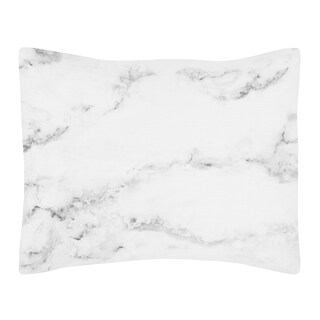 Standard Pillow Sham for the Black and White Marble Collection by Sweet Jojo Designs