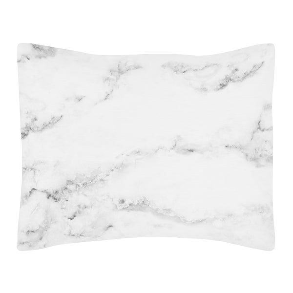 Standard pillow sham for the black and white marble for Black and white marble bedding