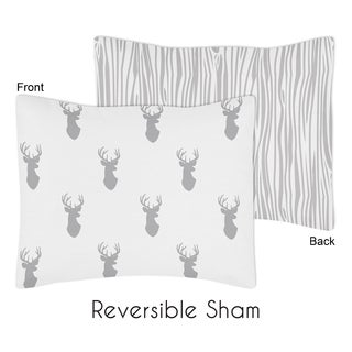 Standard Pillow Sham for the Grey and White Stag Collection by Sweet Jojo Designs