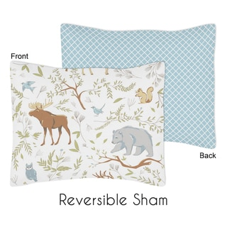Standard Pillow Sham for the Woodland Toile Collection by Sweet Jojo Designs