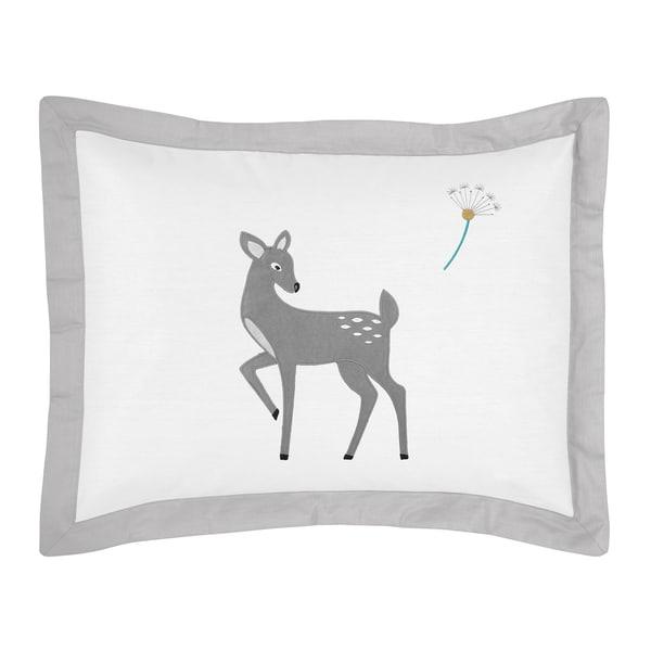 Standard Pillow Sham for the Forest Deer Collection by Sweet Jojo Designs