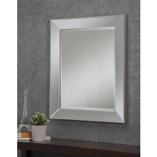 Sandberg Furniture Mirror on Mirror 36 x 30-inch Wall Mirror