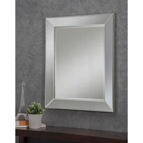 Sandberg Furniture Mirror On 36 X 30 Inch Wall Silver