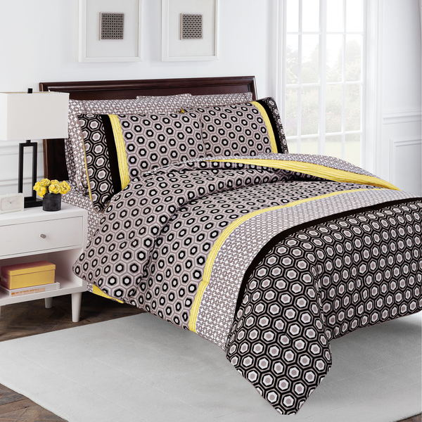 Hexagon 7 piece Comforter Set by Robin Zingone