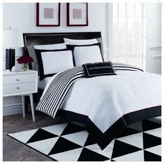 Dahlia 8 Piece Black and White Comforter Set