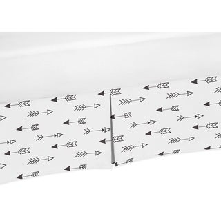 Sweet Jojo Designs Black and White Fox Collection Bed Skirt
