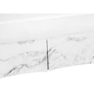 Sweet Jojo Designs Black and White Marble Collection Bed Skirt (3 options available)