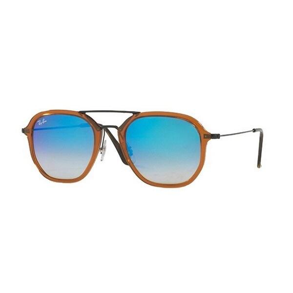 86985839d8 Ray-Ban Unisex RB4273 62588B 52 Square Metal Plastic Brown Blue Sunglasses