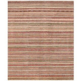 Herat Oriental Afghan Hand-knotted Gabbeh Wool Rug (8' x 9'9)