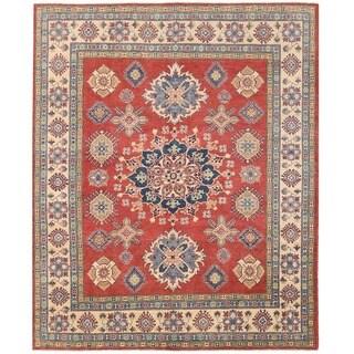 Herat Oriental Afghan Hand-knotted Vegetbale Dye Tribal Kazak Wool Rug (7'11 x 9'8)