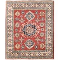 Herat Oriental Afghan Hand-knotted Vegetable Dye Tribal Kazak Wool Rug (7'11 x 9'8)