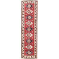 Handmade Herat Oriental Afghan Vegetable Dye Tribal Kazak Wool Runner - 2'7 x 9'6 (Afghanistan)