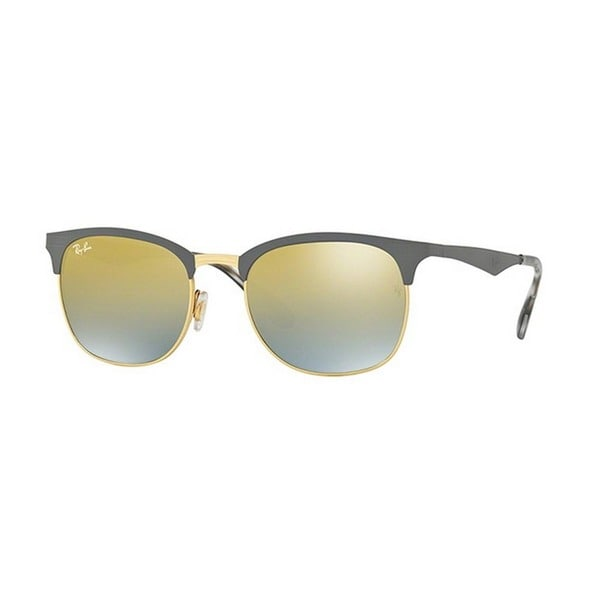 5a1ff1d991b Ray-Ban Unisex RB3538 9007A7 53 Square Metal Plastic Grey Yellow Sunglasses