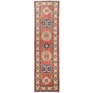 Herat Oriental Afghan Hand-knotted Vegetable Dye Tribal Kazak Wool Runner (2'6 x 9'10)