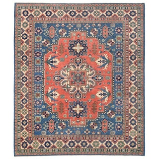 Herat Oriental Afghan Hand-knotted Vegetbale Dye Tribal Kazak Wool Rug (8'2 x 9'8)