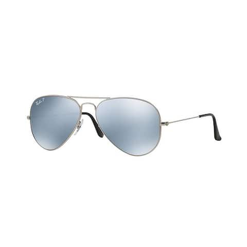 Ray-Ban Men's RB3025 019/W3 58 Aviator Metal Silver Grey Sunglasses