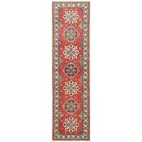 Herat Oriental Afghan Hand-knotted Vegetable Dye Tribal Kazak Wool Runner - 2'7 x 9'9