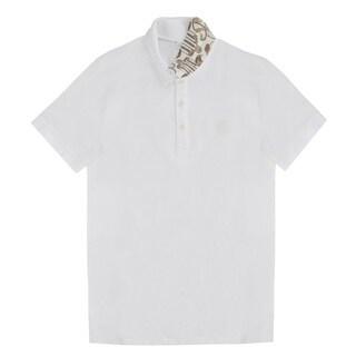 Versace Collection Men's White Cotton Polo T-shirt