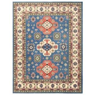 Herat Oriental Afghan Hand-knotted Vegetbale Dye Tribal Kazak Wool Rug (8' x 10'4)