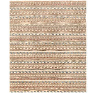 Herat Oriental Afghan Hand-knotted Gabbeh Wool Rug (8'4 x 9'10)