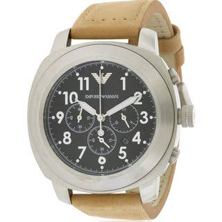 Emporio Armani AR6060 Men's Stainless Steel Leather Watch|https://ak1.ostkcdn.com/images/products/14593888/P21139025.jpg?impolicy=medium